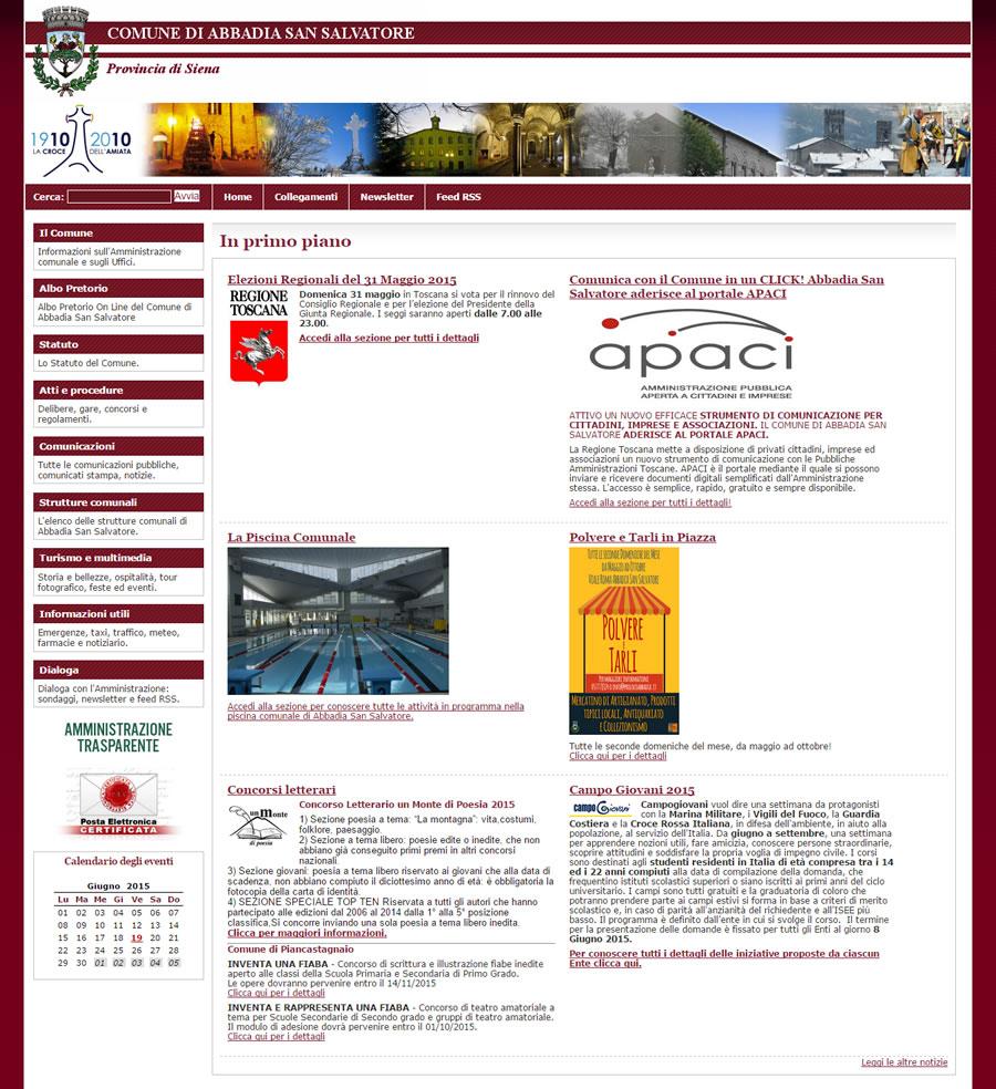 Sito web comune di abbadia s s coding srl for Sito web di progettazione edilizia