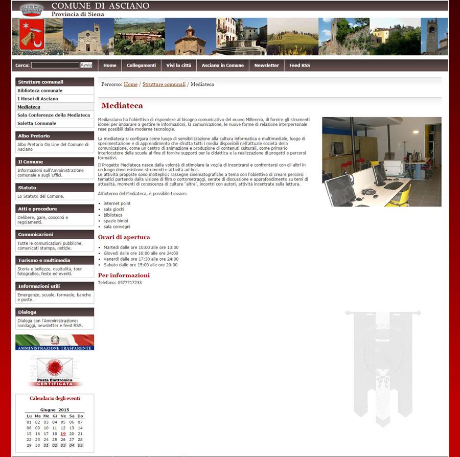 Sito web comune di asciano coding srl for Sito web di progettazione edilizia