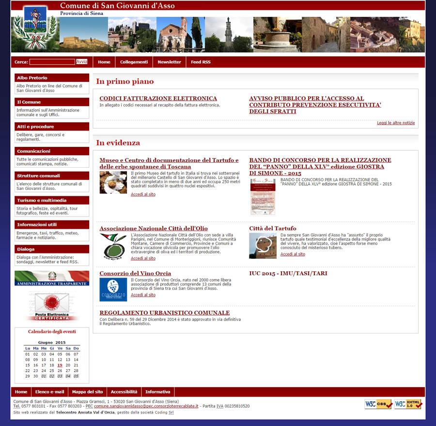 Sito web comune di s giovanni d 39 asso coding srl for Sito web di progettazione edilizia